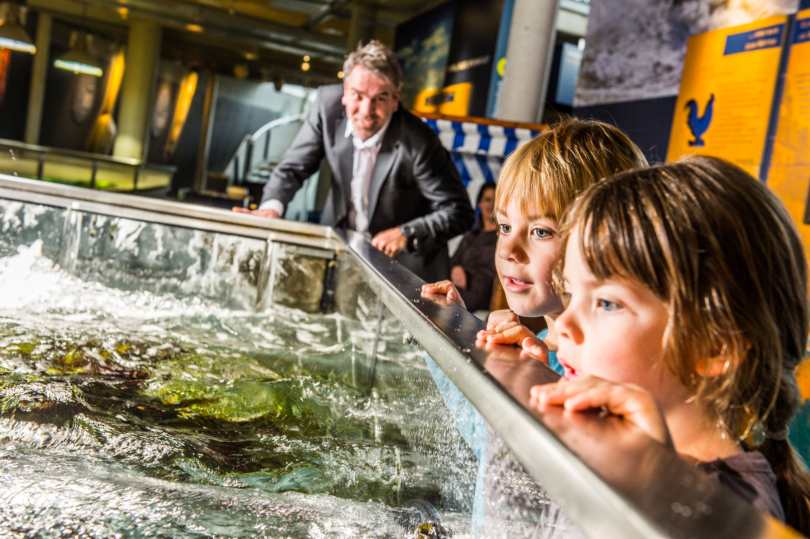 Wellen im Nordseeaquarium im Multimar Wattforum